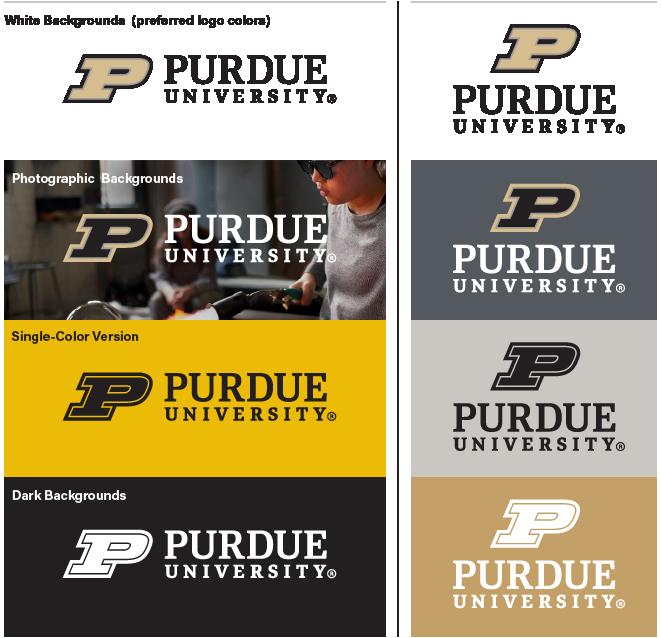 University Logo on White Backgrounds